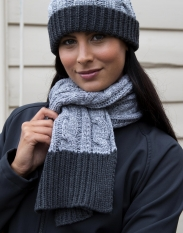 ResultShades of Grey Knitted Scarf[R373X]