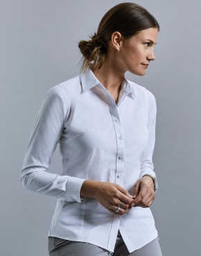 Ladies' LS Tailored Coolmax® Shirt