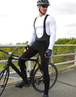 Długie spodnie na szelki Bikewear