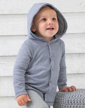 Baby pruhované tričko s kapucí