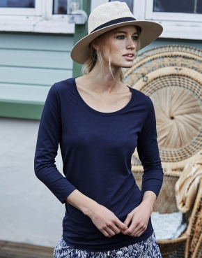 Ladies' 3/4 Sleeve Stretch Tee