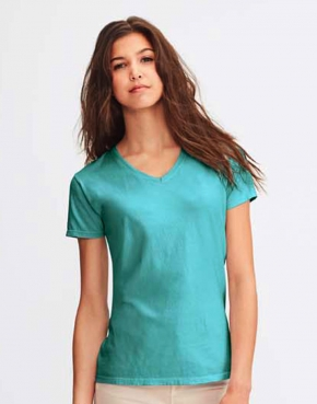 Ladies' Midweight V-Neck Tee