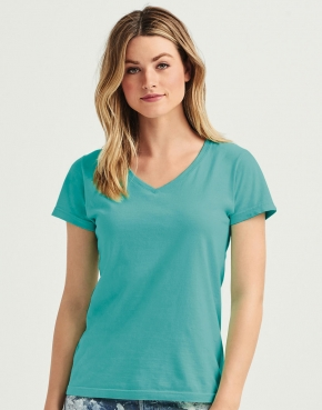 Damski t-shirt V-neck