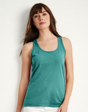 Camiseta tirantes semi ajustada de mujer