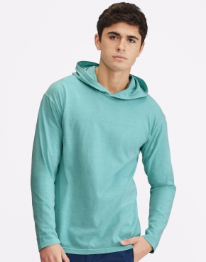 Adult Heavyweight LS Hooded Tee