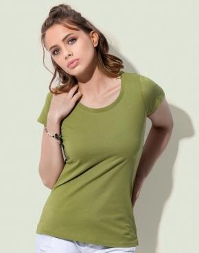 Camiseta orgánica Janet cuello redondo mujer