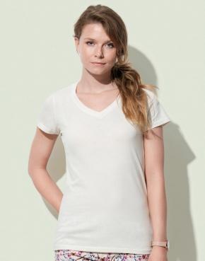 Camiseta orgánica Janet cuello V mujer