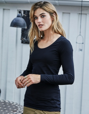 Ladies' Stretch LS Tee Extra Long