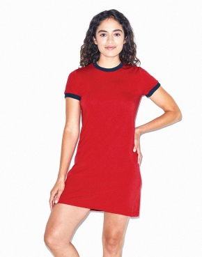Women's Poly-Cotton Ringer T-Shirt Dress