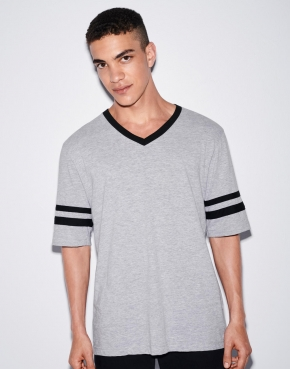 Unisex Poly-Cotton V-Neck Football T-Shirt