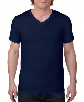 Camiseta ring-spun cuello V hombre