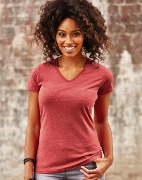 Ladies V-Neck HD T