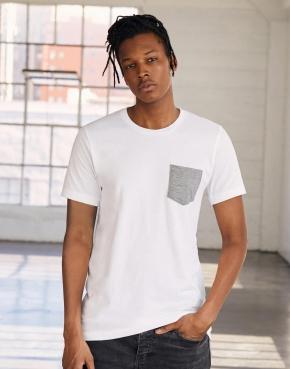 Męski t-shirt z kieszonką Jersey