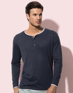 Luke Long Sleeve Henley T-shirt Men