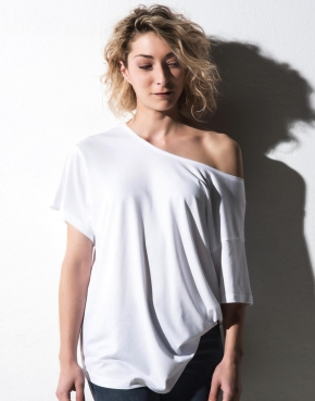 Kate Viscose-Cotton Faschion Boxy T-shirt