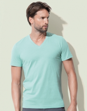Camiseta orgánica James cuello V hombre