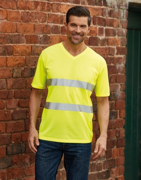 T-shirt v-neck Fluo