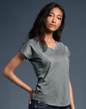 Damska koszulka Tri-Blend V-Neck Tee