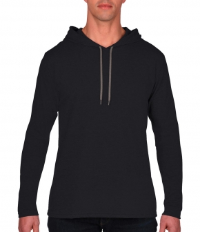 Camiseta con capucha manga larga básica