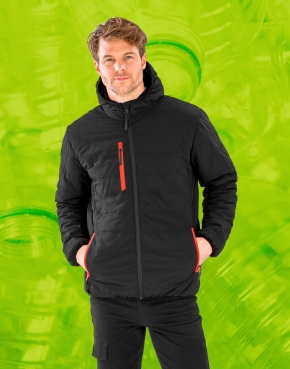Black Compass Padded Winter Jacket