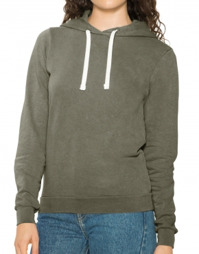 Women's French Terry Garment Dyed Hoodie