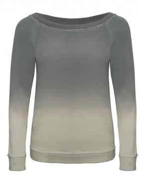 Damska bluza raglanowa z szerokim dekoltem