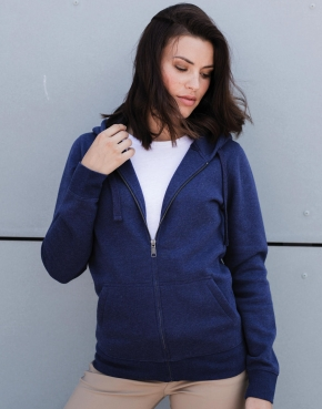 Ladies' Authentic Melange Zipped Hood Sweat