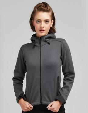 Fleece con capucha mujer