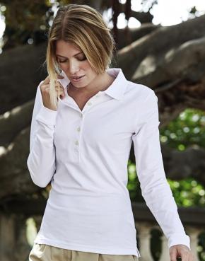 Ladies Luxury LS Stretch Polo