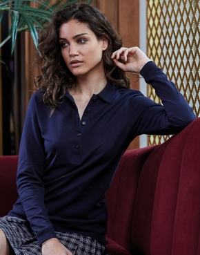 Ladies' Luxury LS Stretch Polo