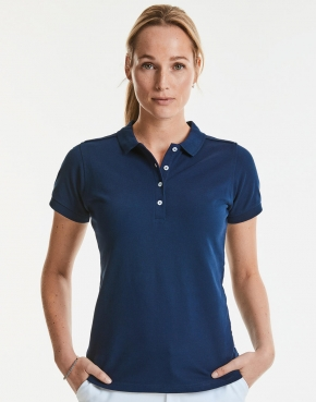 Ladies' Fitted Stretch Polo
