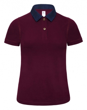 Ladies' Denim Collar Polo - PWD31
