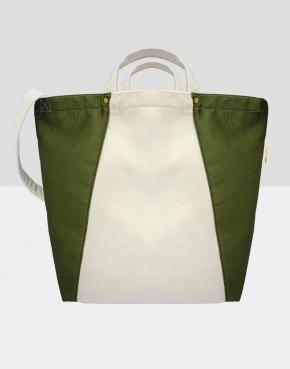 Kiyomi Contrast Satin Shopper