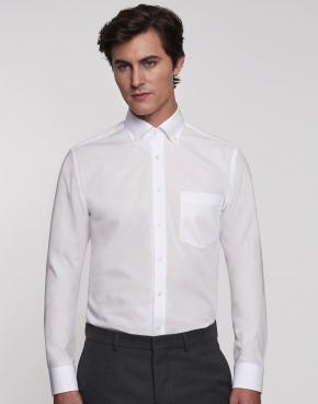 Camisa modern fit cuello americano