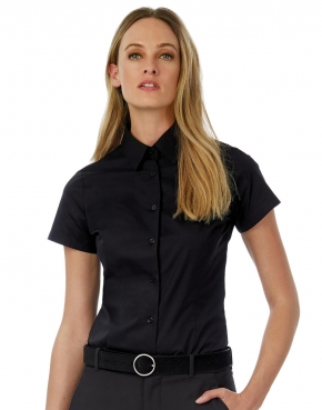 Black Tie SSL/women Poplin Shirt
