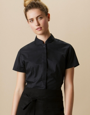 Women's Tailored Fit Mandarin Collar SSL