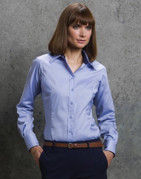 Women's Contrast Premium Oxford Shirt LS