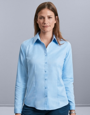 Ladies' LS Herringbone Shirt