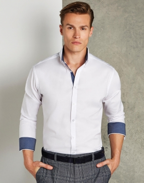 Camisa manga larga Oxford Contrast