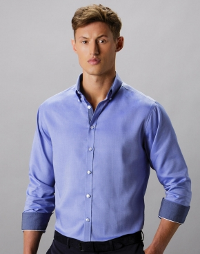 Tailored Fit Contrast Oxford Shirt LS