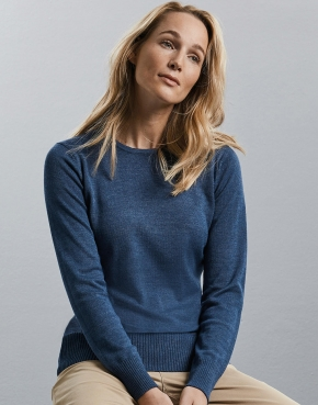 Ladies' Crew Neck Knitted Pullover