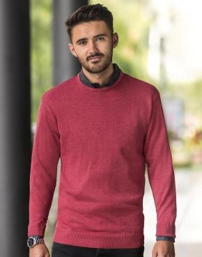 Męski sweter z wycięciem pod szyją