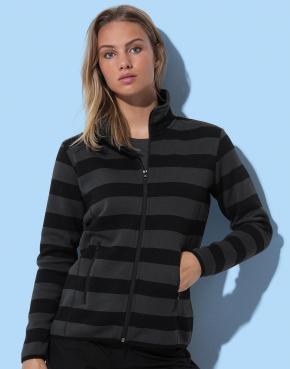 Active Striped Fleece Jacket Women