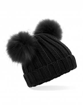 Infant/Junior Faux Fur Double Pom Pom Beanie