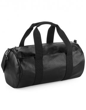 Faux Leather Barrel Bag