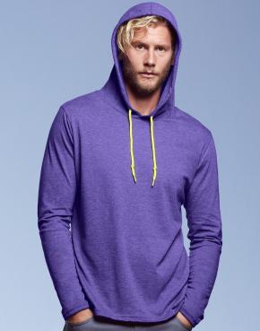Adult Fashion Basic LS Hooded Tee