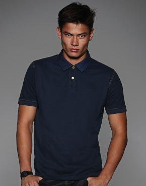 Denim Collar Polo - PMD30
