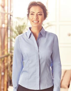 Ladies LS Poplin Shirt