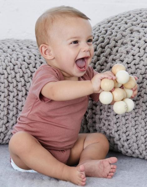 Pelele bebé Triblend manga corta