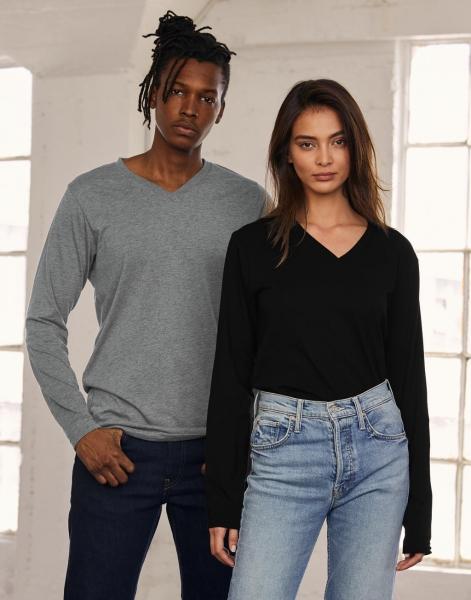 Unisex Triblend LS V-Neck T-Shirt